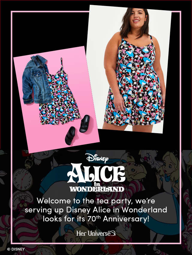 Disney Alice in Wonderland. Welcome to the tea party, we're serving up Disney Alice in Wonderland looks for its 70th Anniversary! Her Universe