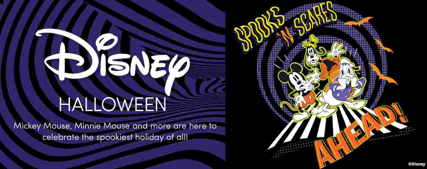 Disney Halloween. Mickey Mouse, Minnie Mouse and more are here to celebrate the spookiest holiday of all!