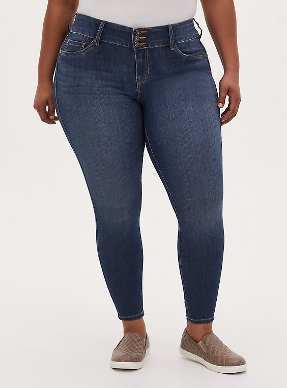 Plus Size Jegging - Super Stretch Medium Wash, , hi-res