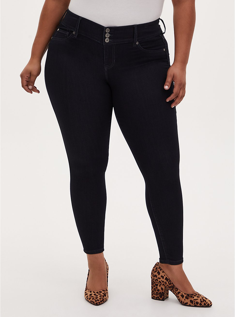 Plus Size Jegging - Super Stretch Dark Wash, RINSE, hi-res