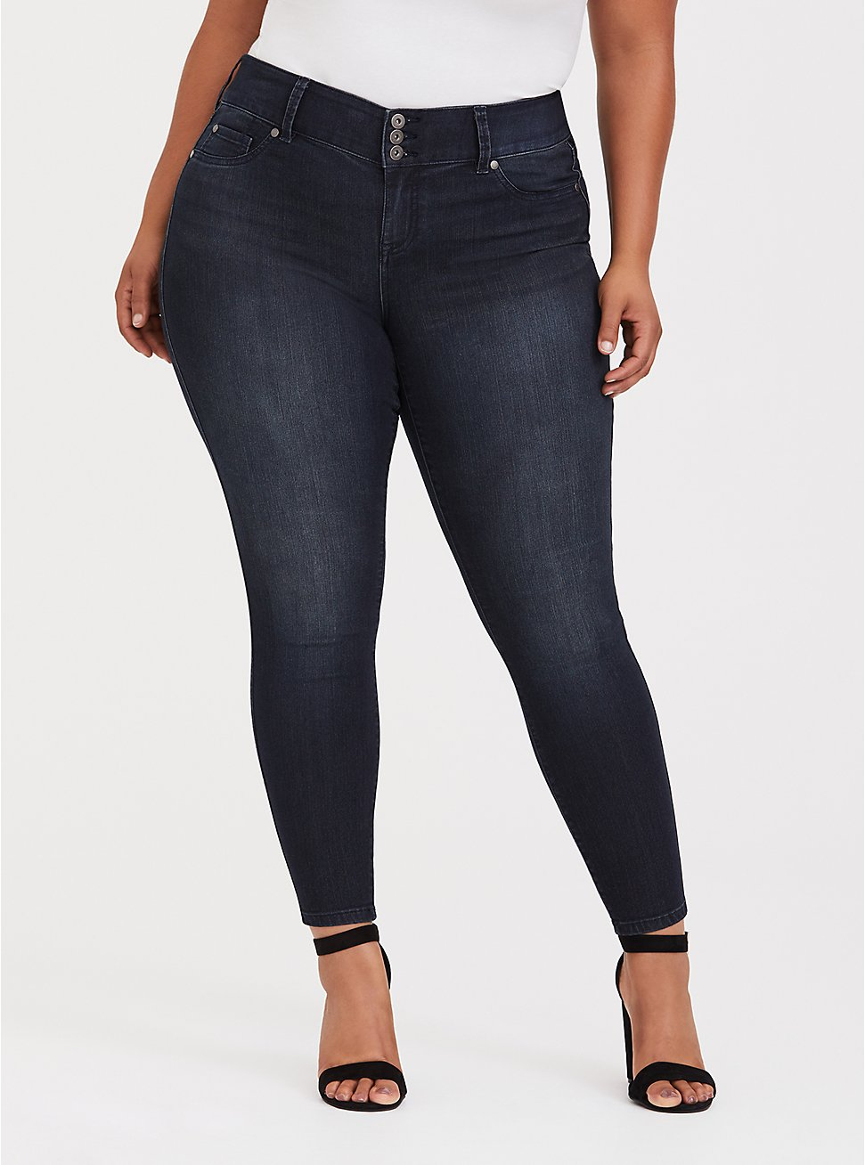 Jegging - Super Stretch Dark Wash, MIDNIGHT, hi-res