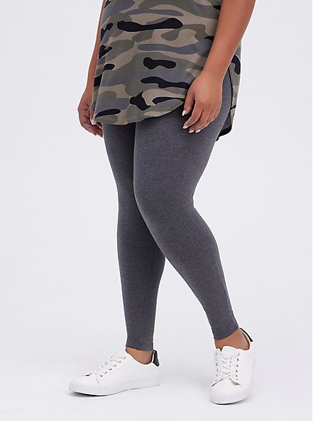 Premium Legging - Charcoal Grey, CHARCOAL HEATHER, alternate