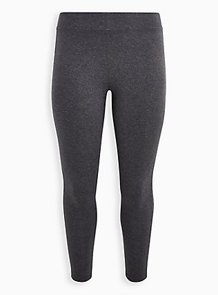 Premium Legging - Charcoal Grey, CHARCOAL HEATHER, flat