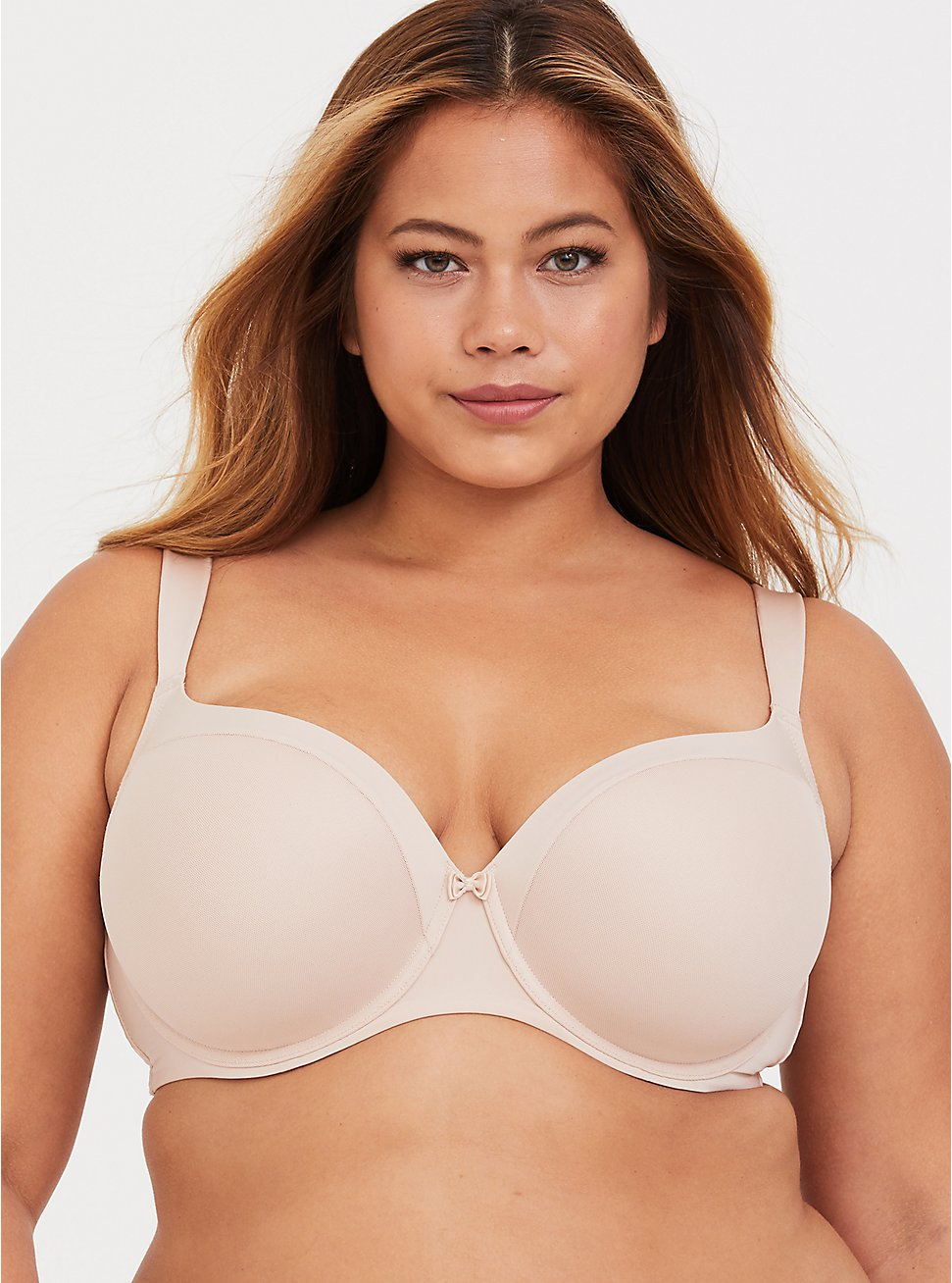 Beige Microfiber Lightly Lined Full Coverage Balconette Bra, ROSE DUST, hi-res