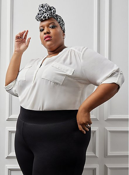 Plus Size Studio Premium Ponte Slim Fix Pixie Pant - Black, DEEP BLACK, alternate