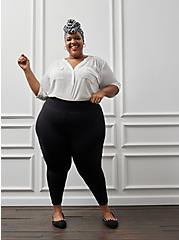 Plus Size Pixie Pant – Luxe Ponte Black with Slim Fix Technology, DEEP BLACK, alternate