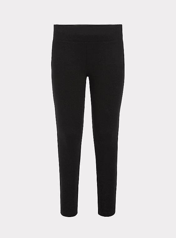 Studio Premium Ponte Slim Fix Pixie Pant - Black, , flat