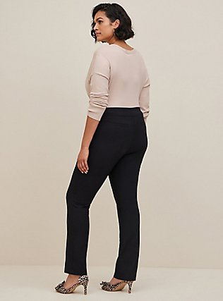Plus Size Studio Modern Deluxe Stretch Straight Leg Pant - Black, DEEP BLACK, alternate