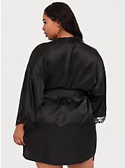 Satin Robe, RICH BLACK, alternate