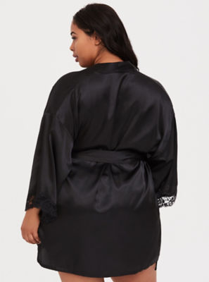 Plus Size Satin Robe Torrid
