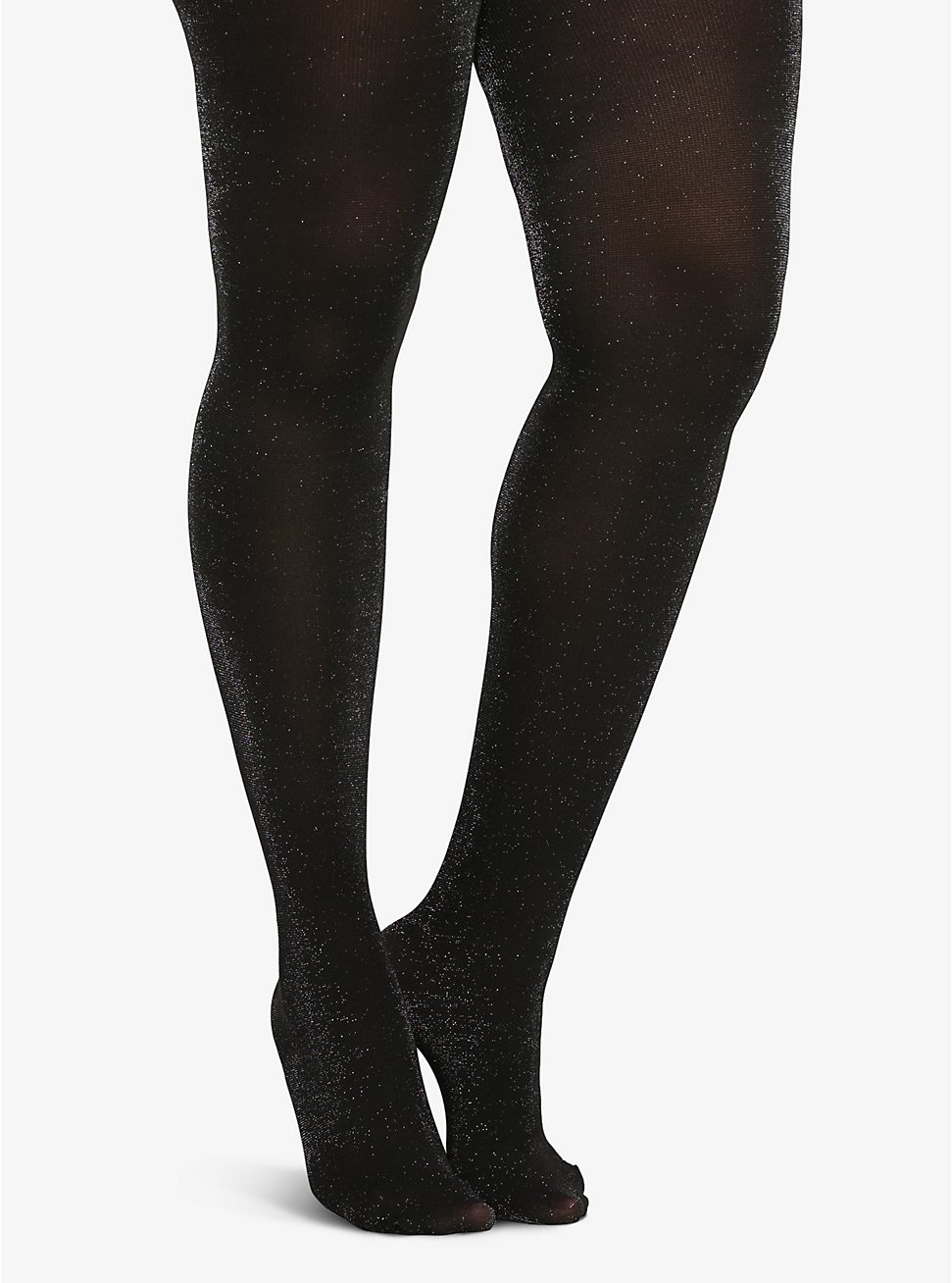 Sparkly Opaque Tights, DEEP BLACK, hi-res