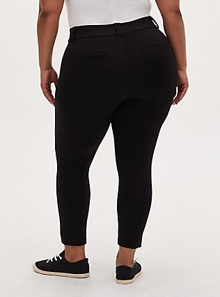 Plus Size Studio Signature Premium Ponte Stretch Ankle Skinny Pant - Black, DEEP BLACK, alternate
