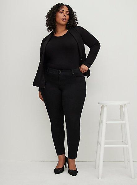 Plus Size Luxe Skinny Jean - Luxe Stretch Black, BLACK, alternate