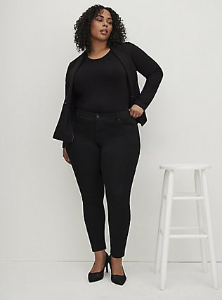 Plus Size Luxe Skinny Jean - Luxe Stretch Black, BLACK, alternate