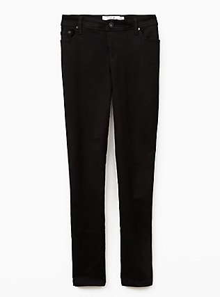 Plus Size Luxe Skinny Jean - Luxe Stretch Black, BLACK, flat