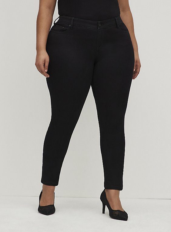 Luxe Skinny Jean - Sateen Stretch Black, , hi-res