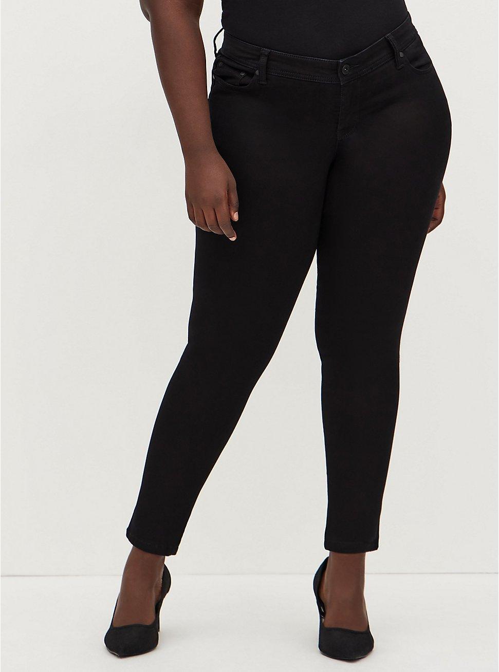 Luxe Skinny Jean - Sateen Stretch Black, , fitModel1-hires