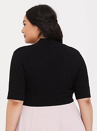 Knit Shrug, DEEP BLACK, alternate