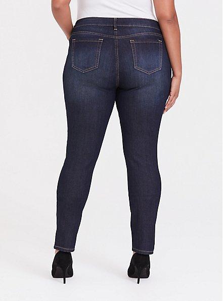 Curvy Skinny Jean - Super Stretch Dark Wash, DUSK, alternate