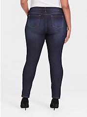 Plus Size Curvy Skinny Jean - Super Stretch Dark Wash, DUSK, alternate