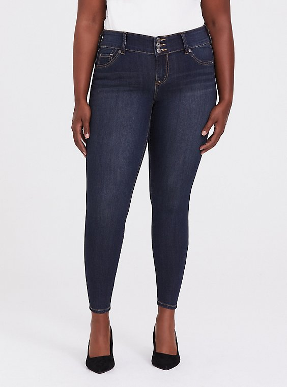 Plus Size Jegging - Super Stretch Dark Wash, , hi-res