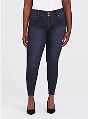 Plus Size Jegging - Super Stretch Dark Wash, NIGHT SHADE, hi-res