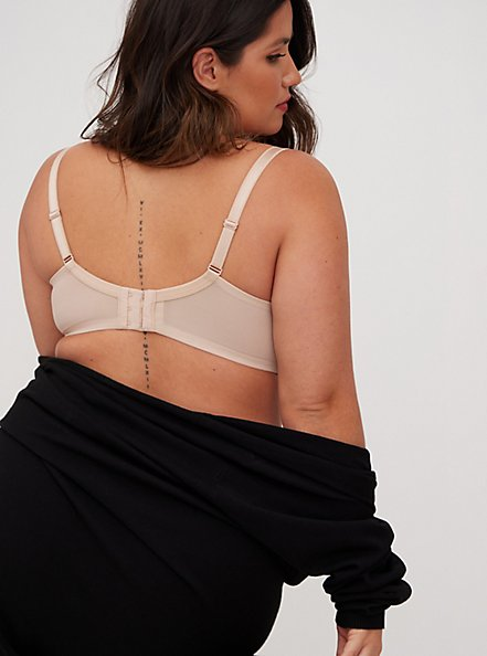 Beige Microfiber Lightly Lined T-Shirt Bra, ROSE DUST, alternate