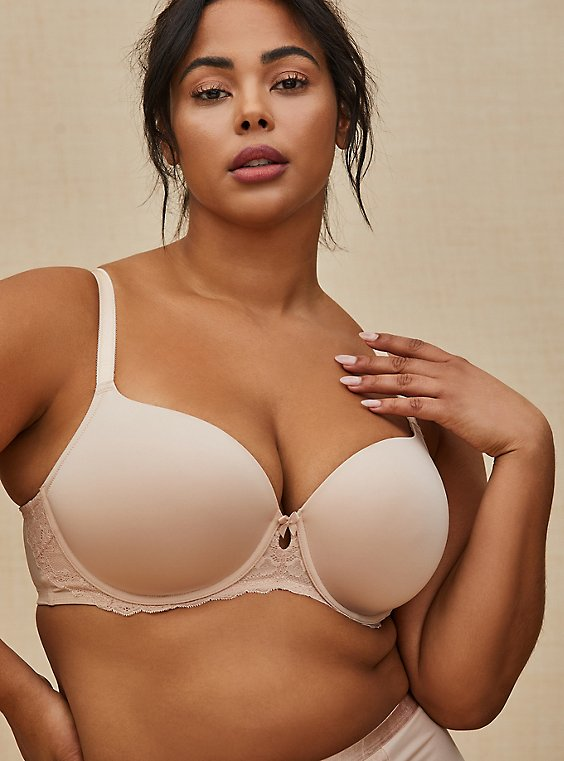 Beige Microfiber Lightly Lined T-Shirt Bra, ROSE DUST, pdped