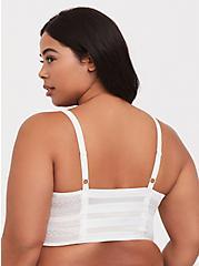 White Lace Ladder Cutout Bralette, CLOUD DANCER, alternate