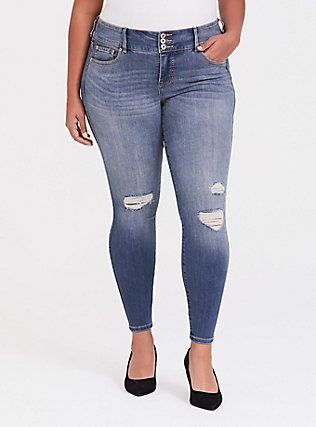 Jegging - Premium Stretch Medium Wash, NEPTUNE, hi-res
