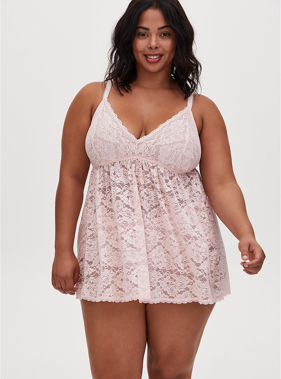 Light Pink Lace Babydoll, LOTUS, hi-res