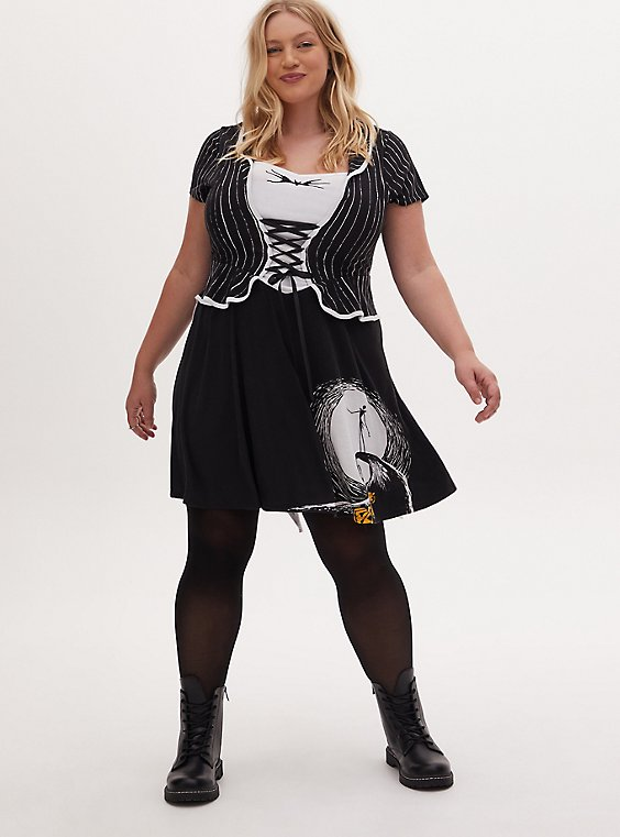 Disney The Nightmare Before Christmas Jack Skellington Skater Dress, , hi-res