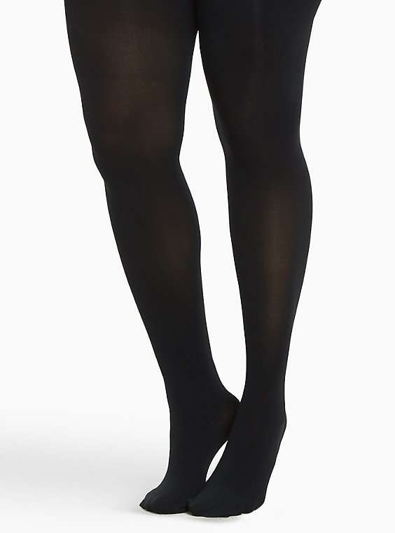 Plus Size Microfiber Tights, , hi-res