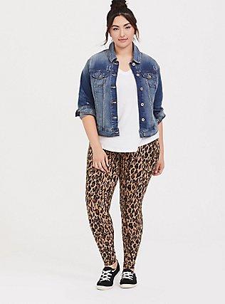 Plus Size Premium Legging - Leopard Print, MULTI, alternate