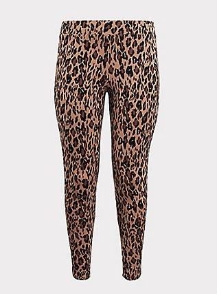 Plus Size Premium Legging - Leopard Print, MULTI, flat