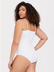 White Scoop Neck Foxy Cami Bodysuit, BRIGHT WHITE, alternate
