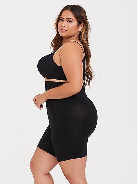 SPANX® - OnCore Black High Waisted Mid-Thigh Short, BLACK, alternate