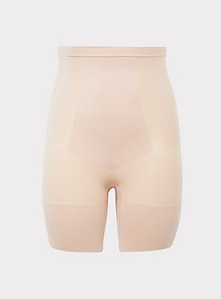 SPANX® - Nude OnCore High-Waisted Mid-Thigh Short, NUDE, flat