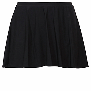 Black High Waist Skater Swim Skirt
