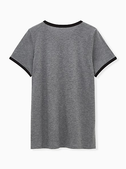 Plus Size Can't Adult Classic Fit Ringer Crew Tee - Charcoal Grey, MEDIUM HEATHER GREY, alternate