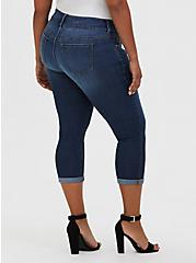 Crop Jegging - Super Stretch Medium Wash, CASCADE, alternate