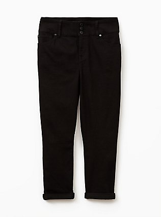 Crop Jegging  - Super Stretch  Black, BLACK, flat