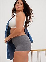 Heather Grey Seamless Boyshort Panty, HEATHER GREY, alternate