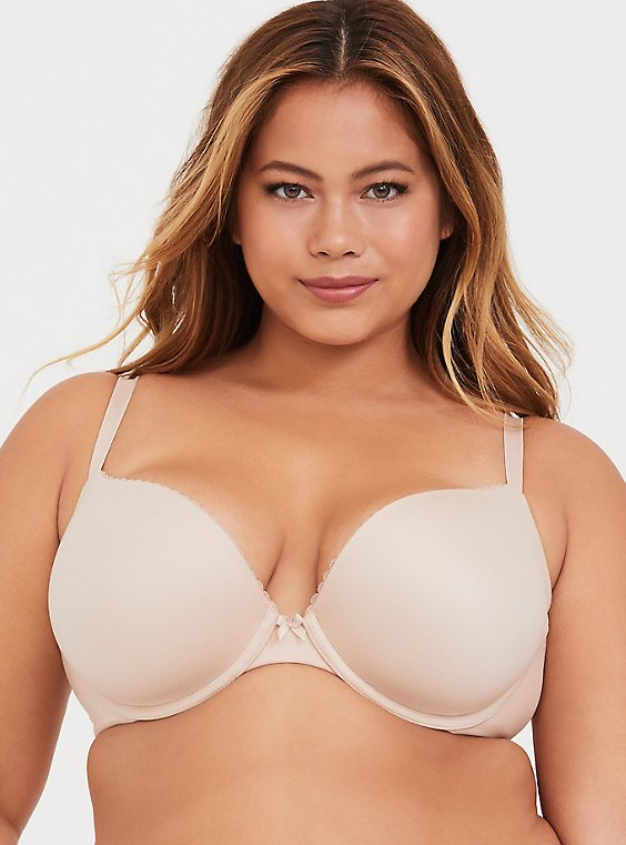 Torrid Curve Body™ Nude Lightly Lined Plunge Bra, , hi-res