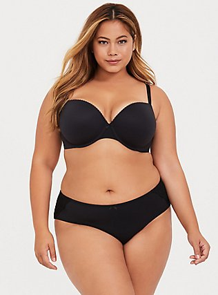 Torrid Curve Body ™ Black Lightly Lined Demi Bra, RICH BLACK, alternate