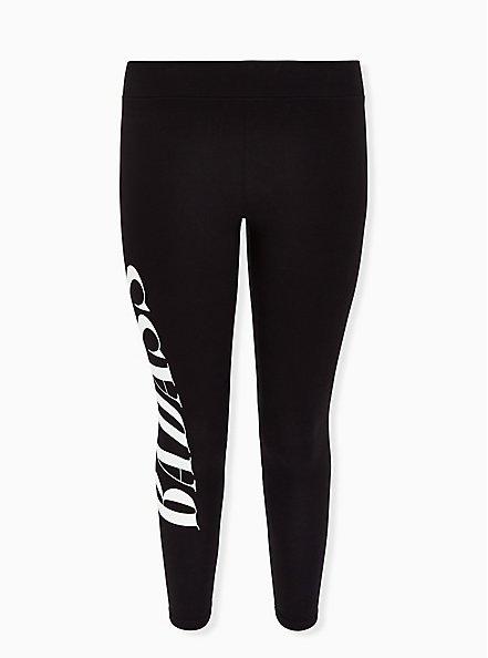 Premium Legging - 'Badass' Black, BLACK, hi-res