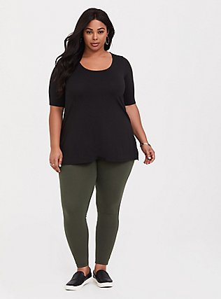 Plus Size Premium Legging - Olive Green, OLIVE, alternate