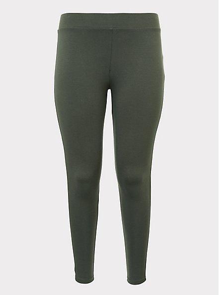 Premium Legging - Olive Green, OLIVE, hi-res