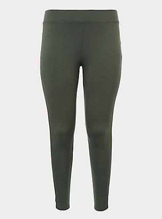 Premium Legging - Olive Green, OLIVE, flat