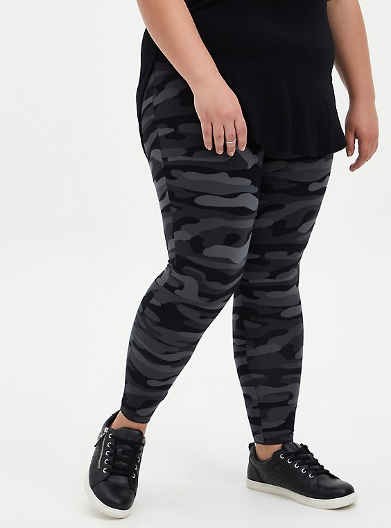 Plus Size Premium Legging - Camo Dark Grey, , hi-res
